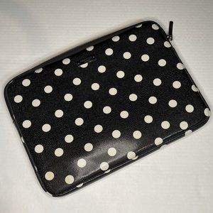 Kate Spade Sunshine Dot Laptop Sleeve, Black/White